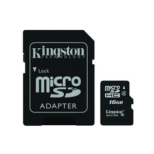 16GB MICROSDHC CLASS 4 FLASH CARD CANADA RETAIL