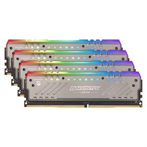 CRUCIAL 64GB Kit (16GBx4) RGB DDR4 3000 MT/s (PC4-24000) CL16 DR x8 Unbuffered DIMM 288pin