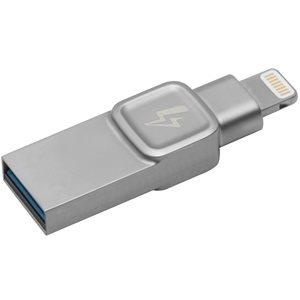 Kingston 32GB Bolt iPhone, iPad photo/video storage:lightning,USB 3.0 (Compatible, Non-proprietary)