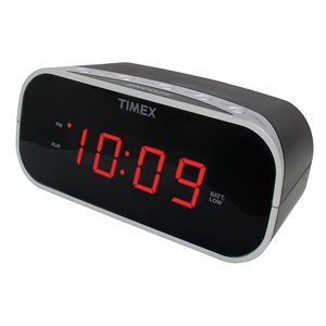 TIMEX T121 ALARM CLOCK RADIO BLACK**BILINGUAL**