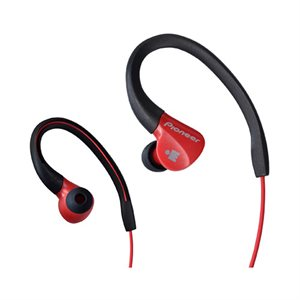 PIONEER IRONMAN Sport Earphones - Wired- Red