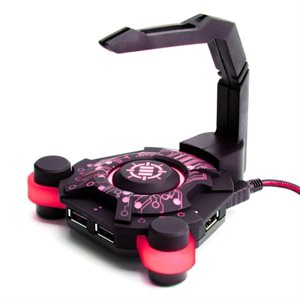 ACCESSORY POWER ENHANCE GAMING BUNGEE & USB HUB GX-B1*Blkw/Red Led*