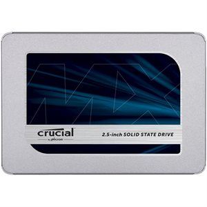 """CRUCIAL 1TB (1000GB)  MX500  SATA 2.5"""" 7mm (with 9.5mm adapter) SSD"""