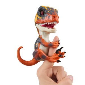 WOWWEE Fingerlings Untamed - Dino - Baby Velociraptor - Blaze (Orange)