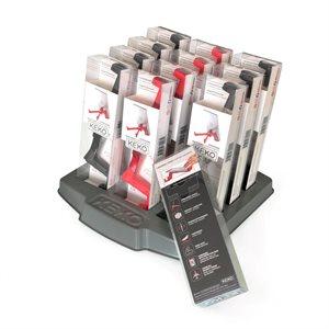 12 Supports à tablette numérique et cellulaire KEKO en polycarbonate et élastomère livré avec présentoir (4 noir/4 rouge/4 transparent)