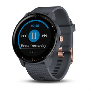 GARMIN Vivoactive 3 Music, Granite Blue with Rose Gold Hardware