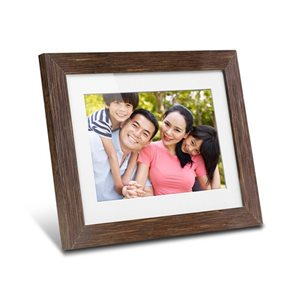 "ALURATEK 8"" Digital Photo Frame w/Distressed Wood"