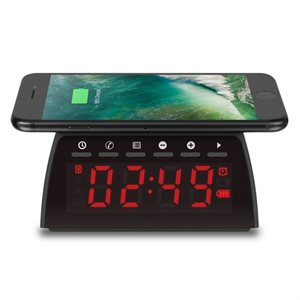 ALURATEK Qi Wireless Charging FM Clock Radio w/Bluetooth Streaming