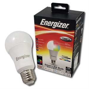 Energizer A19 Smart Bright RGB + White LED Bulb *RGBW* ENG ONLY