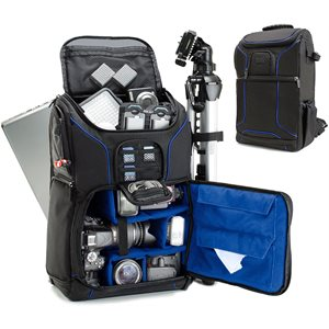 ACCESSORY POWER USA GEAR Professional DSLR Camera and Laptop Backpack  BLUE