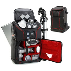 ACCESSORY POWER USA GEAR Professional DSLR Camera and Laptop Backpack  RED