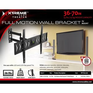 XTREME 37-70in FULL MOTION WALL BRACKET TV WALL MOUNT