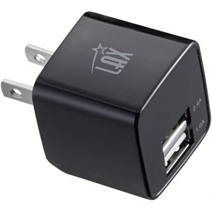 LAX Rapid Charging Dual USB Wall Charger-BLACK - ENG ONLY