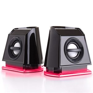 ACCESSORY POWER GOgroove BassPULSE™ 2MX USB Powered 2.0 Channel Computer Speakers