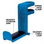 ACCESSORY POWER ENHANCE HEADPHONE MOUNT BLUE
