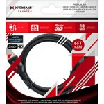 XTREME 6FT Premium HDMI High Speed Cable Black