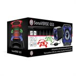 GOgroove Sonaverse CRS USB Powered 2.0 Channel Stereo Speakers w/Crystal Clear Acrylic Housing BLK