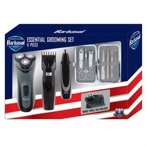 Barbasol ESSENTIAL 11 pc Mens Grooming Gift Set DRY