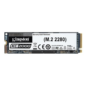 Kingston SSD 250GO KC2000 M.2 2280 NVMe PCIe gen3.0 x4