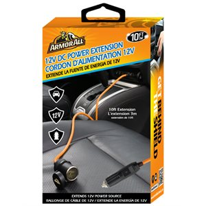 ARMORALL 12V DC Power Extension Cord Orange
