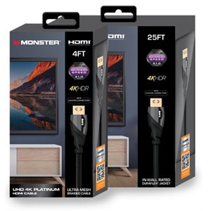 Monster Platinum 21 Gbps HDMI cable - 12 ft.