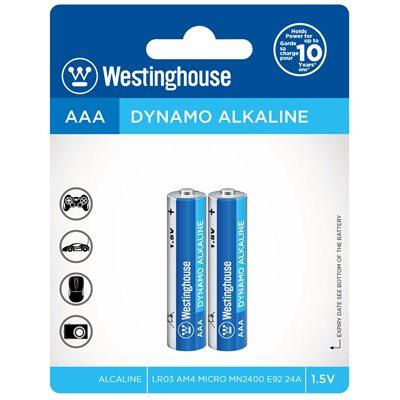 Westinghouse AAA Dynamo Alkaline  (2pcs blister)