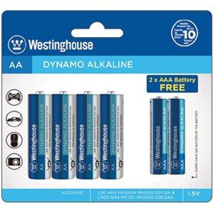 Westinghouse AA + AAA Dynamo Alkaline  (4xAA+2xAAA in blister )