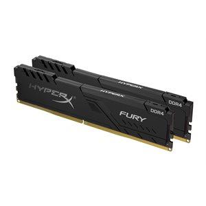 Kingston 16GB 2666MHz DDR4 CL16 DIMM (Kit of 2) 1Rx8 HyperX FURY Black
