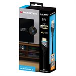 Monster 6ft High Speed 4K HDR HDMI CABLE with Built-in LED Light - Blue