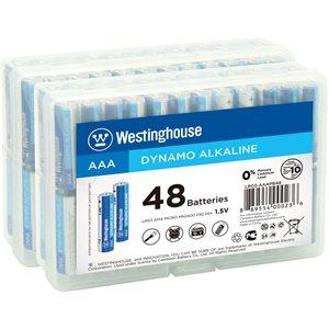 Westinghouse 96PK AAA Dymano Alkaline 2 x Plastic Storage Box of 48
