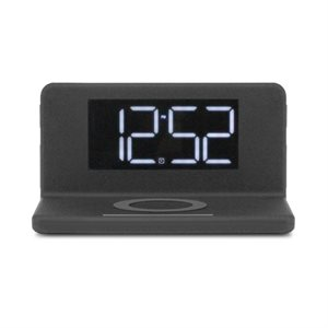 ALURATEK Qi Wireless Charging FM Alarm Clock with Nightlight