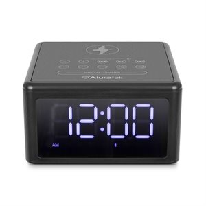 ALURATEK QI Wireless Charging FM Clock Radio with Bluetooth Streaming