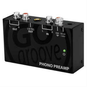 AccessoryPowerGogroove Phono Preamp- ltra Compact Phono Turntable Preamp(Preamplifier) w/12V AC Adpt
