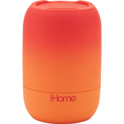 iHome iBT400 PLAYFADE Rechargeable Water-Resistant Bluetooth Speaker RED *Bilingual*