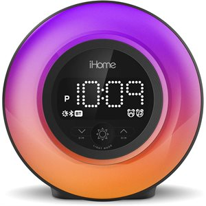 iHome iBT295 POWERCLOCK GLOW Bluetooth Color Changing Alarm Clock *ENG*