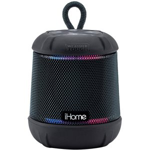 iHome iBT155 Bluetooth Rechargeable Waterproof Speaker with 18-Hour Mega Battery BLK *ENG*