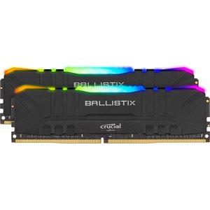 Crucial Ballistix 2x32GB (64GB Kit) DDR4 3200MT/s  CL16  Unbuffered DIMM 288pin Black RGB
