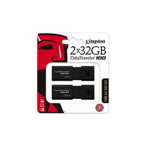 Kingston 32GB USB 3.0 DataTraveler 100 G3 (2 Pieces) Canada Retail