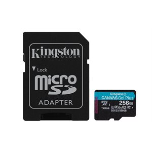 Kingston 256GB microSDXC Canvas Go Plus 170R A2 U3 V30 Card+ADP (Canada Retail)