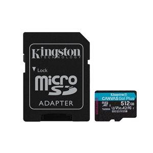 Kingston 512GB microSDXC Canvas Go Plus 170R A2 U3 V30 Card+ADP (Canada Retail)