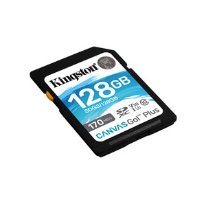 Kingston 128GB SDXC Canvas Go Plus 170R C10 UHS-I U3 V30 (Canada Retail)