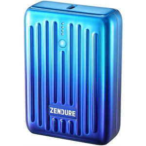 Zendure SuperMini - 10,000 mAh Credit Card Sized Portable Charger w/PD (Blue) ENG Only PKG