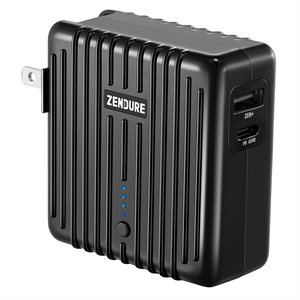Zendure MIX GO 2-in-1 Power Bank and Charger with 45W PD(5,000mAh) Black  ENG Only PKG