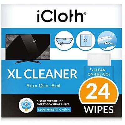 Lingettes nettoyantes iCloth iCXL24 à base d'Alcool isopropylique - 24 lingettes XL