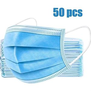 Disposable masks CE/FDA approved Box of 50 pcs - 3 ply - Filter 95% of bacteria