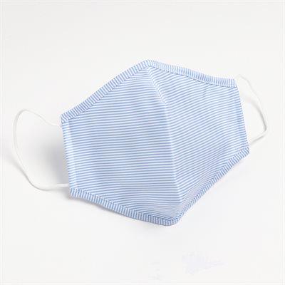 Masques lavables et réutilisables antibactérien en tissu HORST (Coton) Ligné Bleu (Paquet de 5)