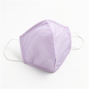 Washable & Reusable 50%Cotton50%Polyester Lilac Masks  Pack of 5