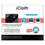 Lingettes nettoyantes iCloth iCA70 à base d'alcool isopropylique 70% - Boite de 500 lingettes