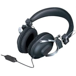 ISOUND HM-260 Dynamic stereo headphones with inline mic and volume Black