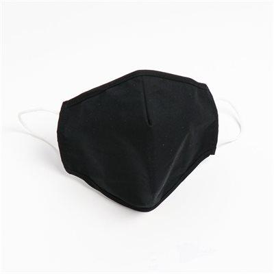 Masques lavables et réutilisables en tissu HORST (100% Coton) Noir (Paquet de 5)